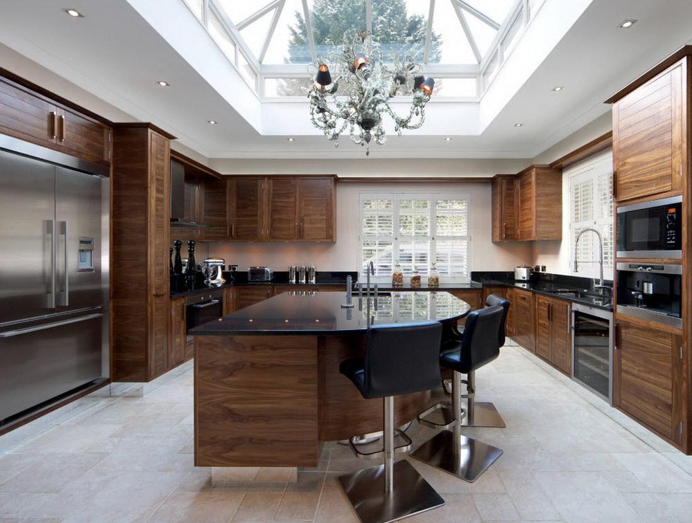 Роскошный интерьер кухни в стиле гламур 70 фото в интерьере