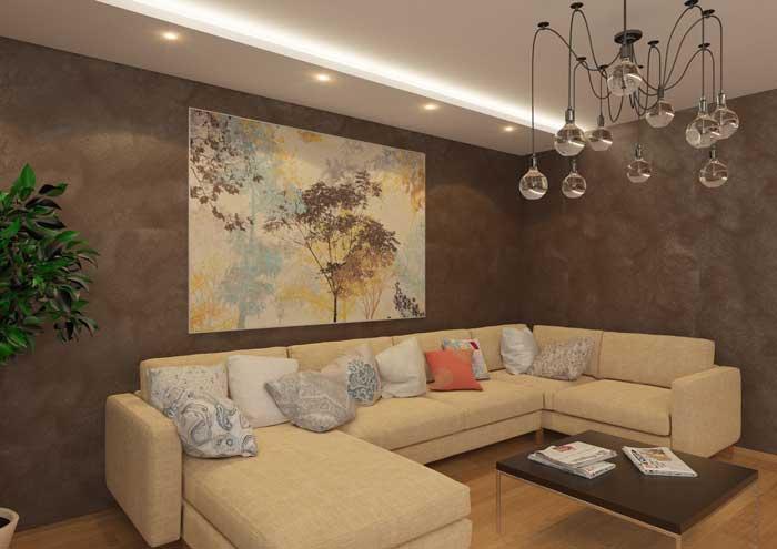 Современный дизайн зала 20-25 кв. м. фото