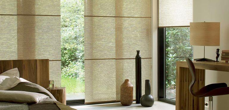 Японские шторы в интерьере: дуновение востока на окнах