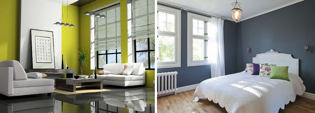Окрашивание стен в квартире. фото и видео