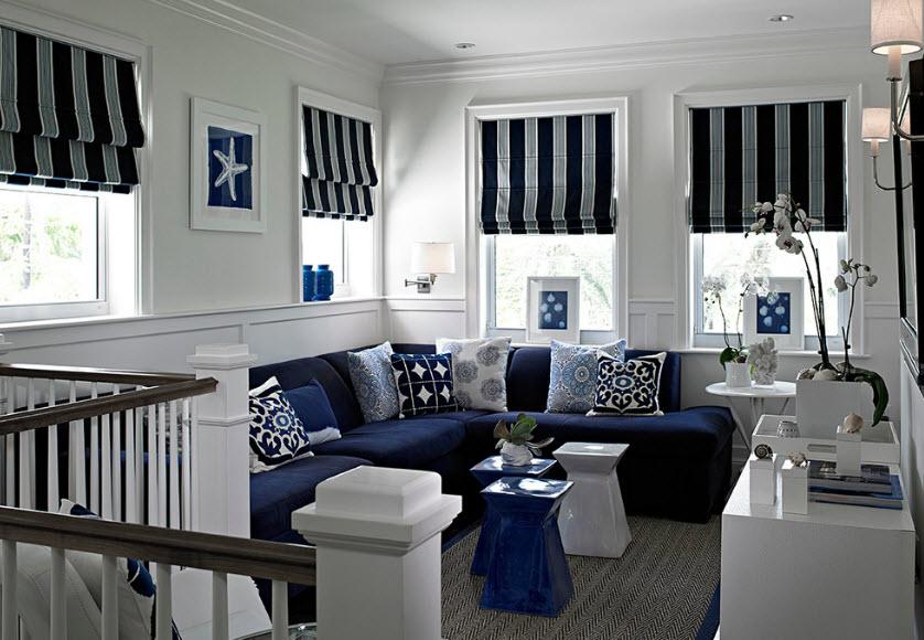 Синий цвет в интерьере 80 фото-идей