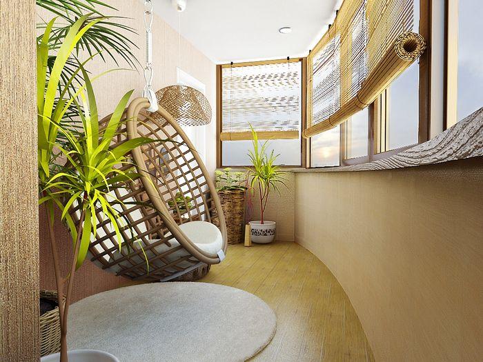 Яркие идеи для маленького балкона