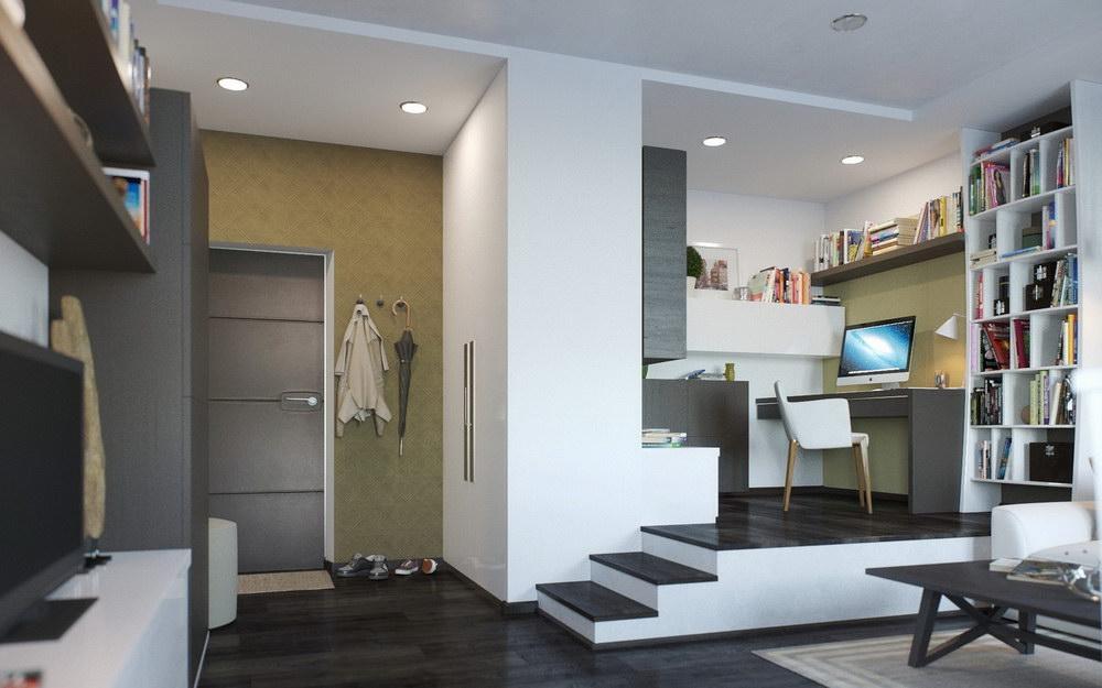 Объединение зон интерьера для экономии места в квартире 70 фото