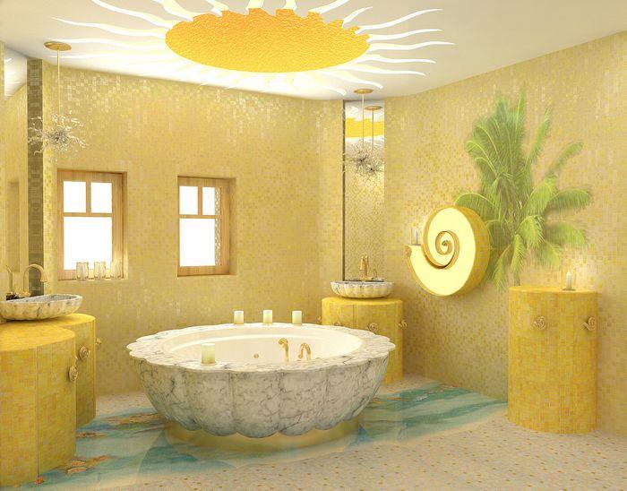 Желтая ванная комната: бело-желтый дизайн и другие сочетания ...