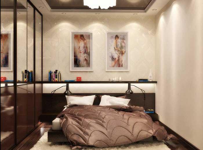 4 Идеи дизайна спальни 12 кв. м. со шкафом купе. фото дизайн проектов