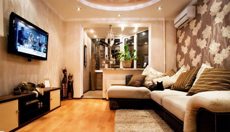 Дизайн комнаты с балконом: фото, идеи, отзывы