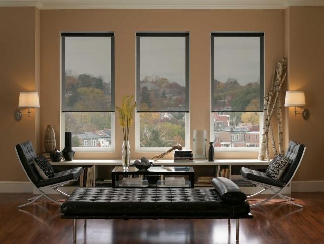 Жалюзи и рулонные шторы на пластиковые окна как замена традиционным шторам, 44 фото