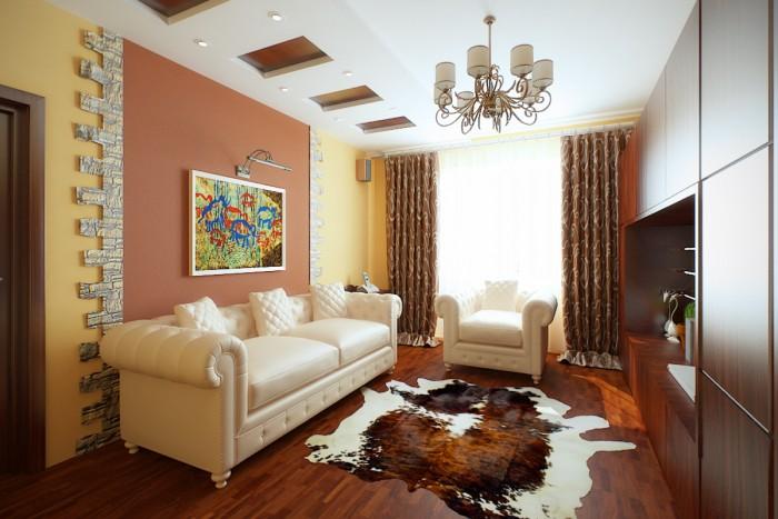 Дизайн интерьера трехкомнатной квартиры с фото