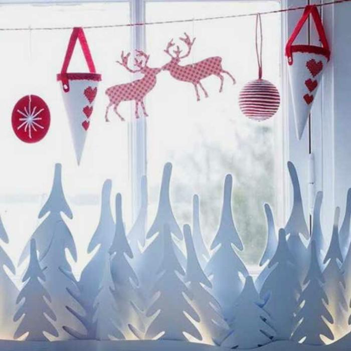 Новогодние украшения на окна своими руками, 40 фото