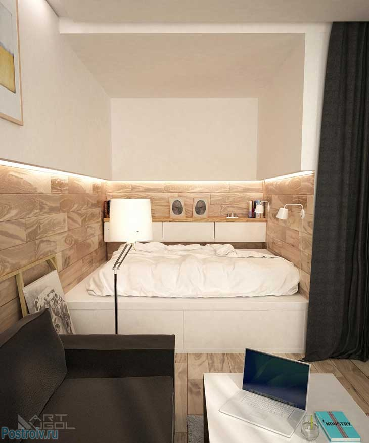 Встречайте! современный интерьер однокомнатной квартиры с нишей. фото ремонта