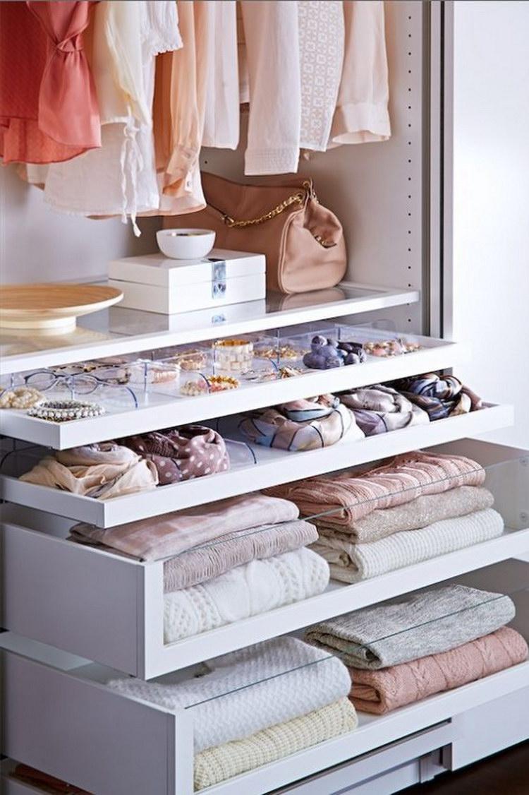 Как организовать гардеробную внутри - 67 фото