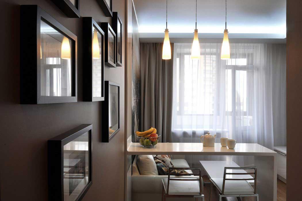 Дизайн однокомнатной квартиры 40 кв. м в современном стиле
