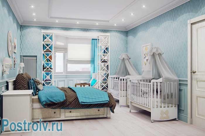 Современная классика в интерьере двухкомнатной квартиры 50, 53, 55 кв.м.
