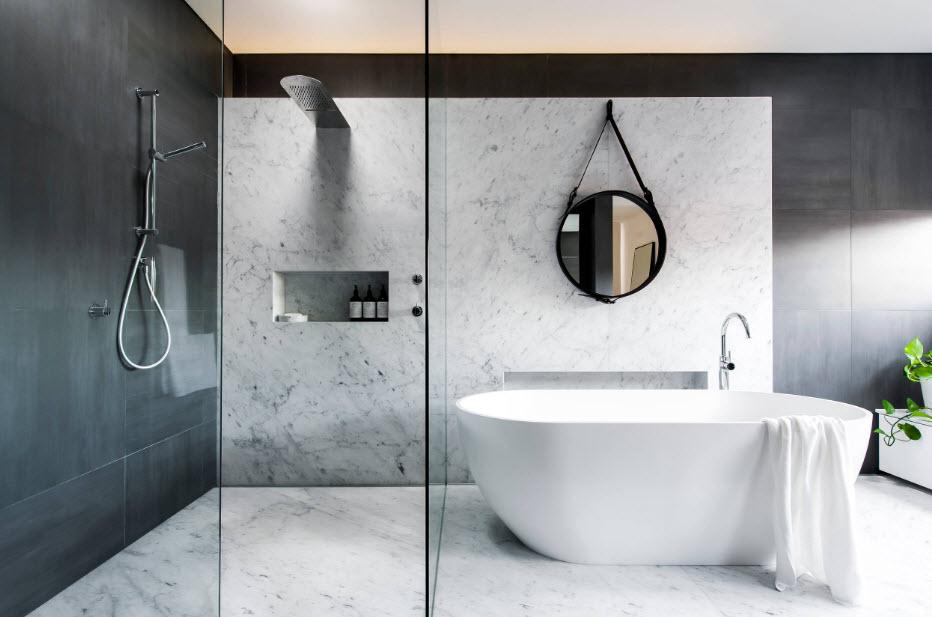 Как обустроить ванную в частном доме - 60 идей фото