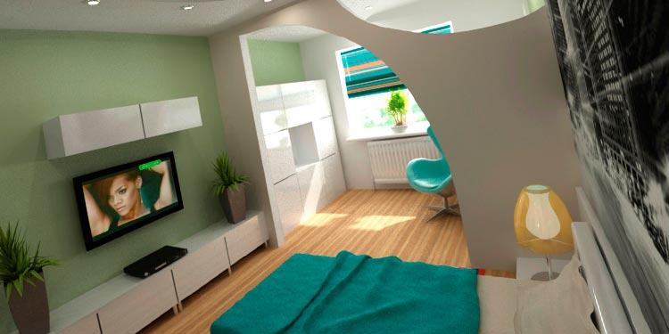 Перепланировка однокомнатной квартиры для семьи с ребенком