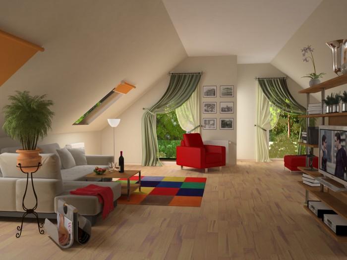 Дизайн мансардных комнат: фото, варианты, советы