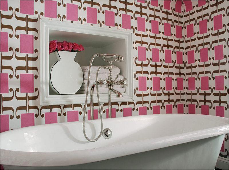Какие существуют обои для ванной комнаты. можно ли клеить обои в ванную?