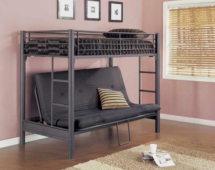 Двухъярусная кровать для взрослых — необычная и интересная идея (29 фото)