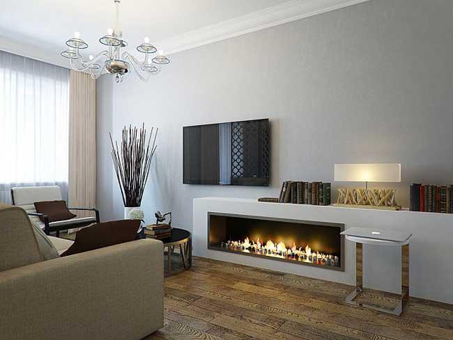 Дизайн трехкомнатной квартиры на последнем этаже дома в стиле минимализм, модным в 2014 году