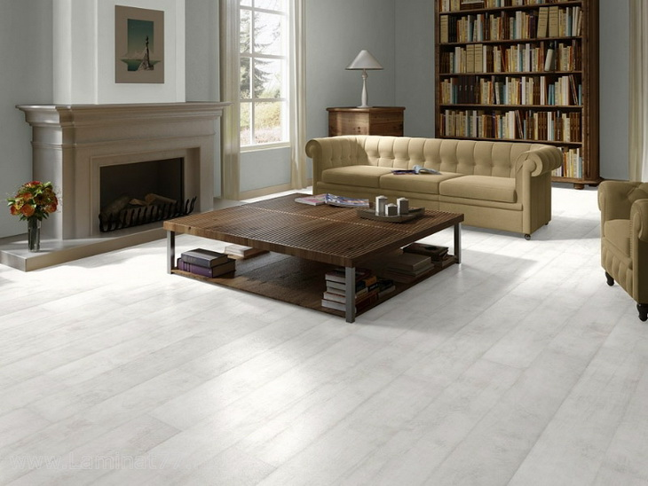 Белый ламинат - изысканное и простое решение по обновлению пола 35 фото