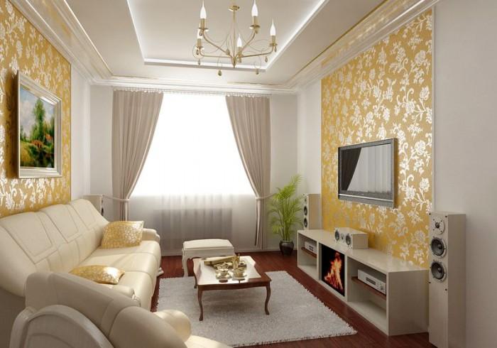 Дизайн интерьера зала в квартире с фото