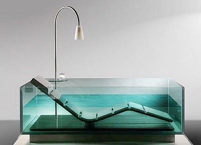 Стеклянная ванна - роскошный интерьер фото