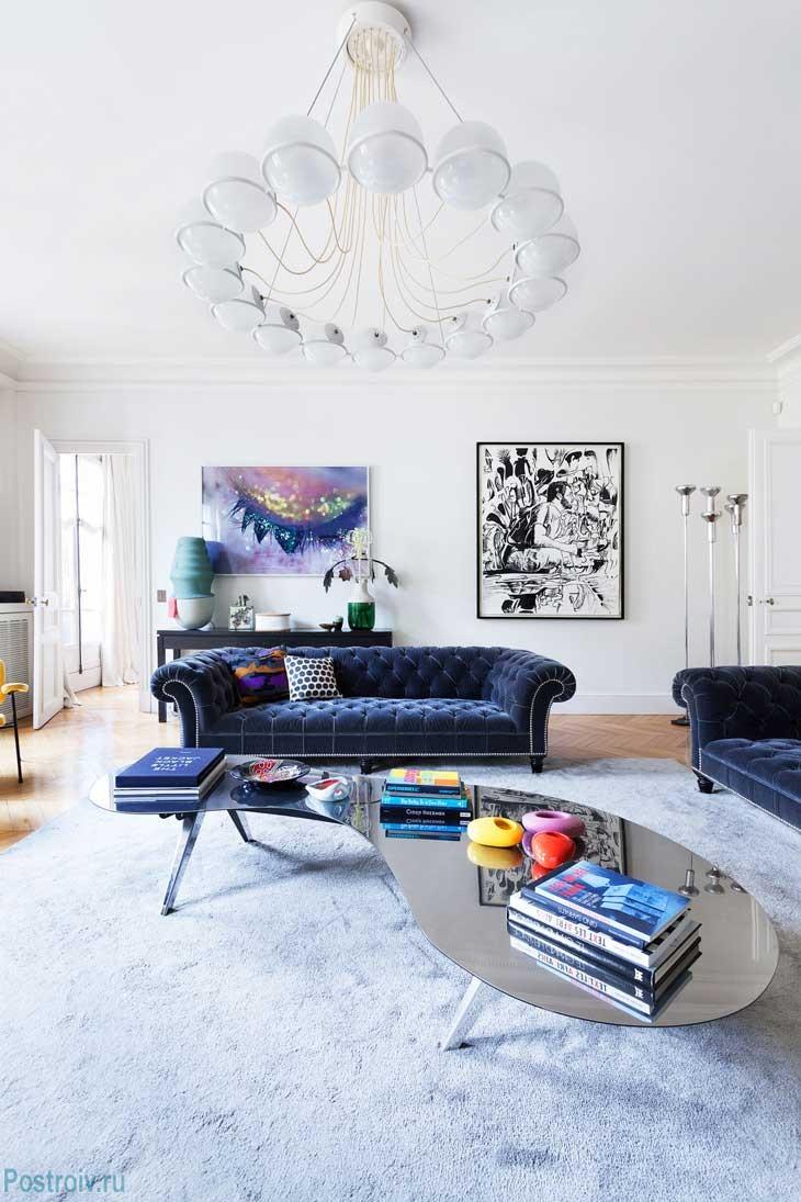 Интерьер квартиры в париже. фото
