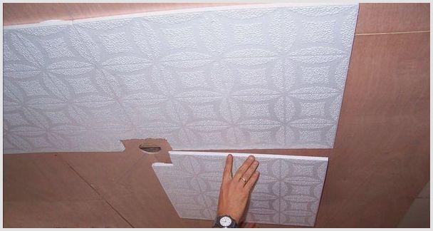 Плитка из пенополистирола для потолка