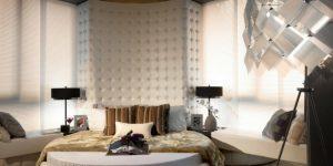 Спальни с круглыми кроватями, 36 фото