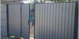 Ворота из профнастила своими руками: видеоинструкция и фото, стоимость