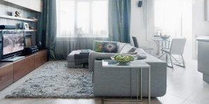 Дизайн интерьера однокомнатной квартиры 35 кв. м, 40 кв. м, 47 кв. м