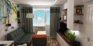 Дизайн квартиры 50 кв. м. для семьи с ребенком: фото