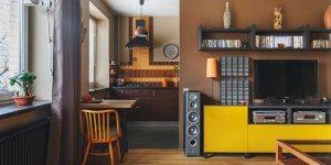 Дизайн квартиры студии 43 кв. м. перепланировка хрущевки