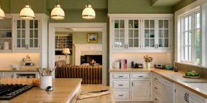 Дизайн кухни зеленого цвета. правильное сочетание цветов