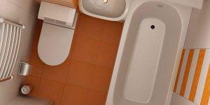 Дизайн маленькой ванной комнаты. фото 2016, современные идеи