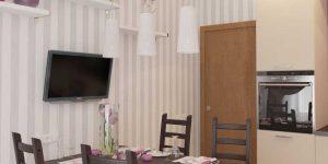Дизайн светлой угловой кухни 9-12 кв. метров