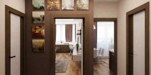 Интересный дизайн однокомнатной квартиры 30, 35, 40 кв. м. дизайнерский ремонт