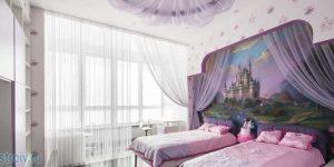 Интерьер большой трехкомнатной квартиры в шоколадных цветах. фото проекта