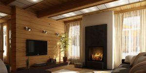 Интерьер дома из клееного бруса (20 фото), внутренний дизайн дома
